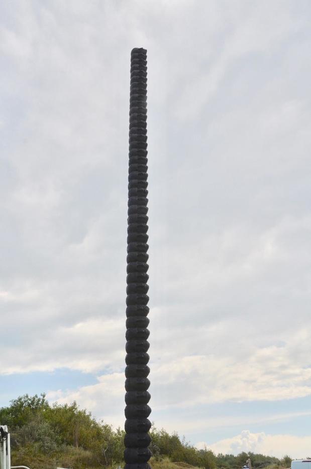 22 meter hoge 'Tower' van Thomas Leeroy is absolute eyecatcher in Konkke-Heist