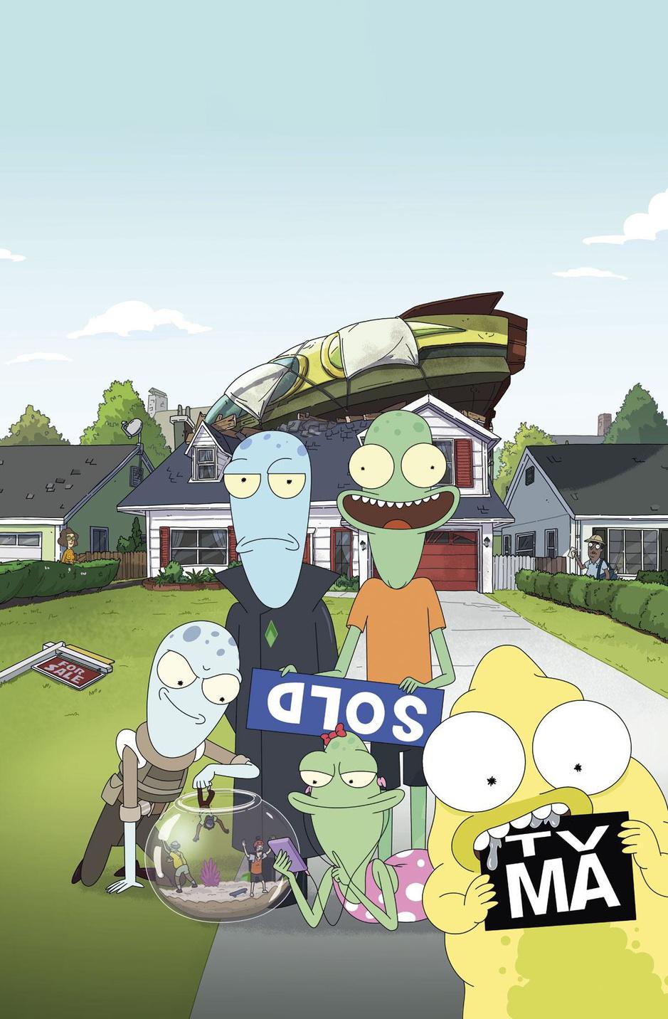 'Solar Opposites' is minder misantroop dan grote broer 'Rick and Morty' (of toch een béétje minder)