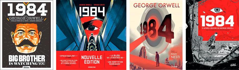 Phénomène: 1984 tombé dans le domaine public, quatre adaptations BD sortent en même temps