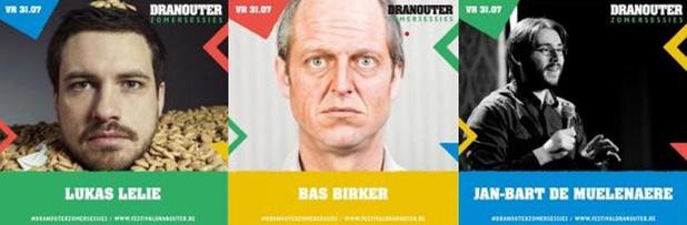 Comedy Zomersessie met Lukas Lelie, Bas Birker en Jan-Bart De Muelenaere