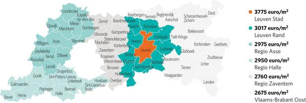 In Leuven vlakt de curve af