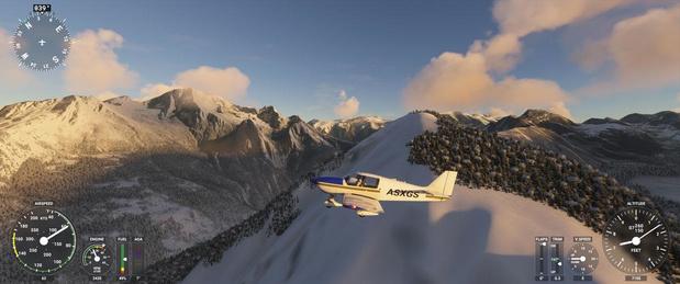 Pour continuer à voyager, on a testé le simulateur de vol