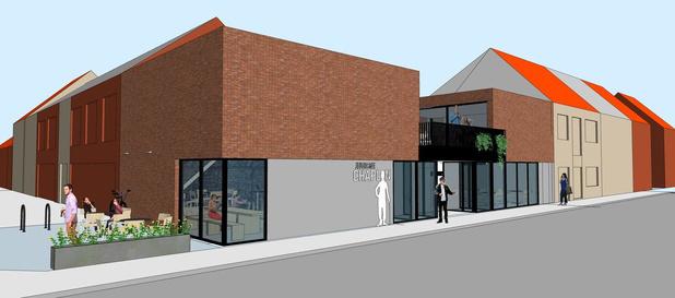 Nieuwbouw Jeugdhuis Chaplin in Sint-Eloois-Winkel zal ook een buurthuis herbergen