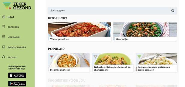 Nieuw receptenplatform helpt om gezond en lekker te eten