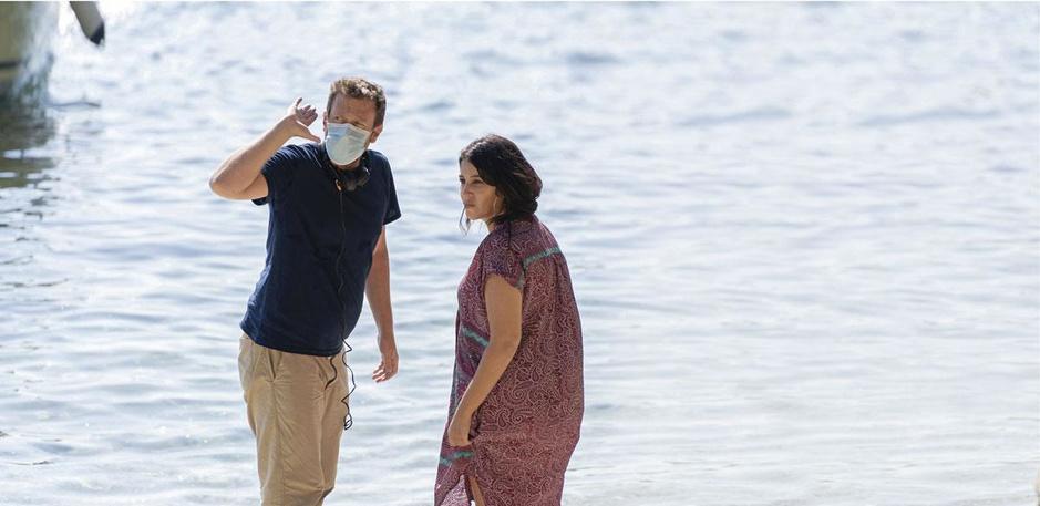 Sur le tournage des Intranquilles, avec Joachim Lafosse et Leïla Bekhti