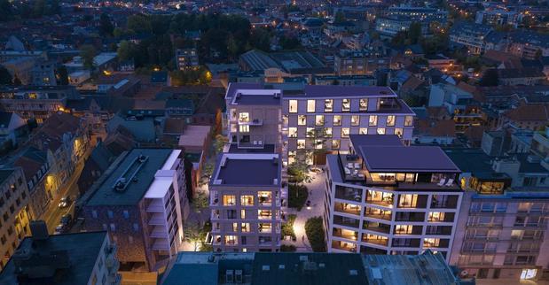 Bel-Fordsite is goed voor 71 appartementen verspreid over drie woonzones in Roeselare