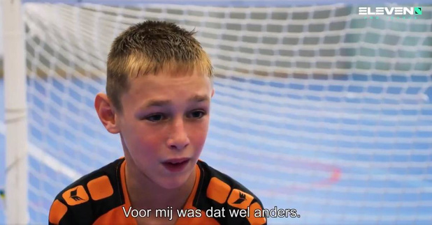 Dario Verhelst (12) uit Kortemark steelt de show op Eleven Sports