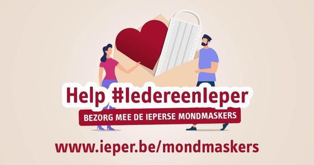 Ieper zoekt vrijwilligers om mondmaskers te bedelen