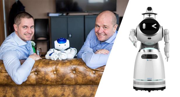 West-Vlaamse robot als wapen tegen corona: 'Epidemic' kan koorts van 20 mensen tegelijk meten