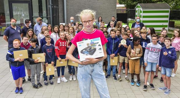 Zesde leerjaar De Graankorrel wint wedstrijd VTI Sint-Lucas