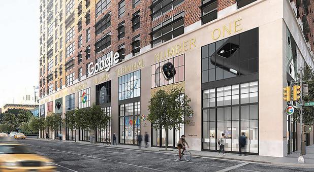 Un premier magasin Google à New York