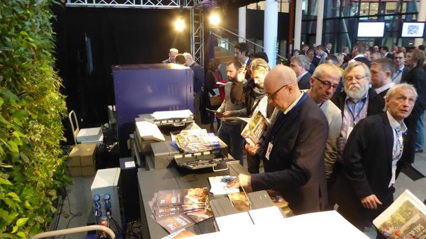 Benelux-première van Konica Minolta's 140 ppm productieprinter