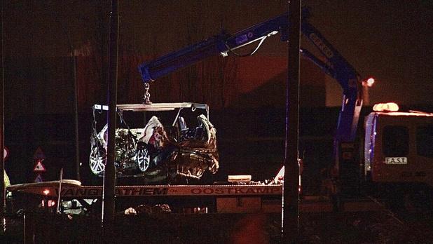 """Birgen (39) overleden na zware crash tegen betonnen duiker in Zeebrugge: """"Het ga je goed maatje"""""""
