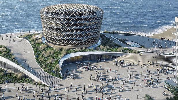 """Le projet de casino à Middelkerke, """"le plus beau bâtiment de Flandre"""""""