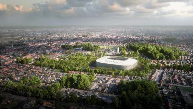 Vlaamse regering gaat opnieuw voor een voetbalstadion langs de Blankenbergse Steenweg