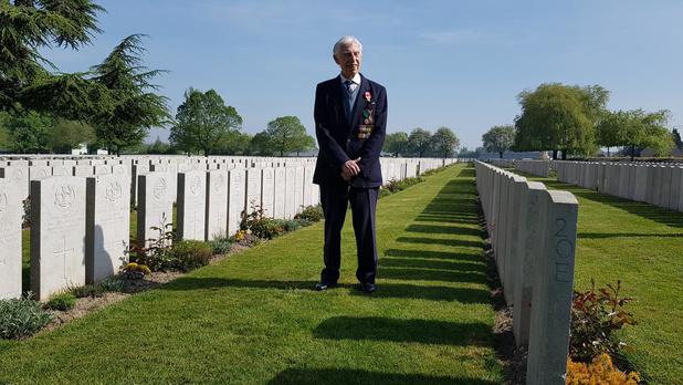98-jarige oorlogsveteraan wandelt voor Talbot House