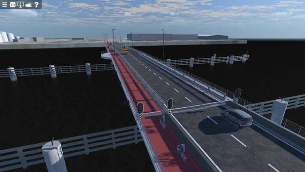 Stad Brugge eist een veilig fietspad op toekomstige brug over het Verbindingsdok