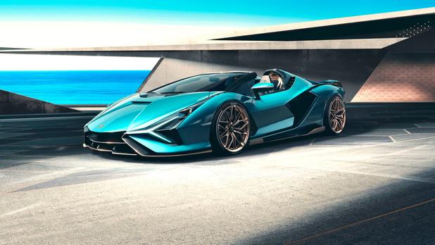 La Lamborghini Sian enlève le haut