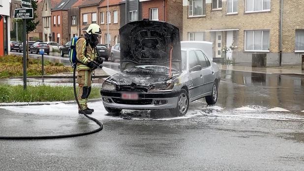 Brandweer krijgt autobrand snel onder controle
