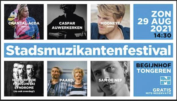 5x2 tickets Stadsmuzikantenfestival Tongeren