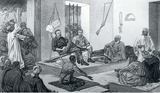 Des esclaves, de l'ivoire et des armes