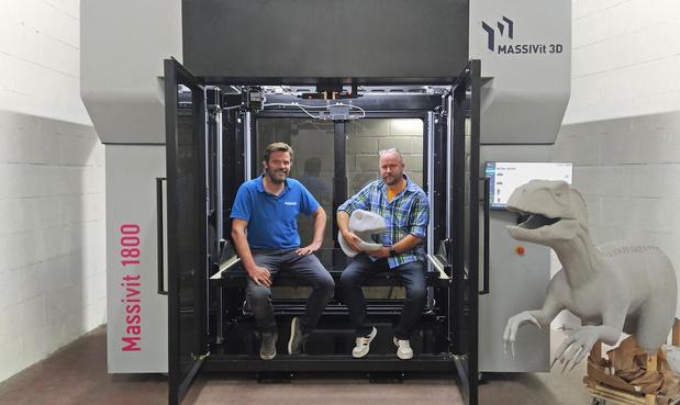 Eerste grootformaat 3D-printer van Massivit in Wallonië