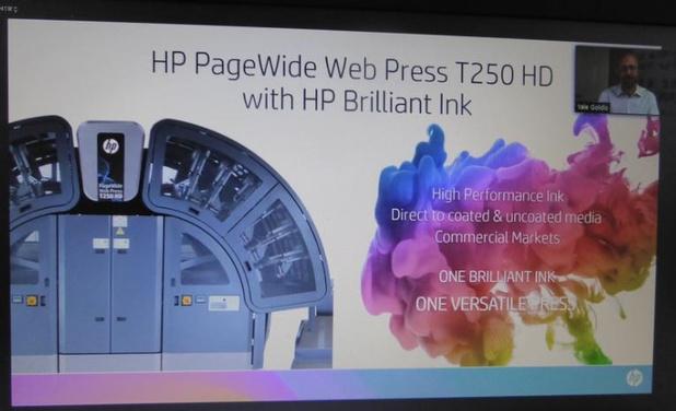 Nouvelle rotative jet d'encre HP avec encres brillantes