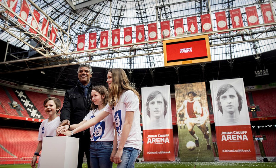 Flashback naar 25 april 2018: de Amsterdam Arena wordt omgedoopt in Johan Cruijff Arena