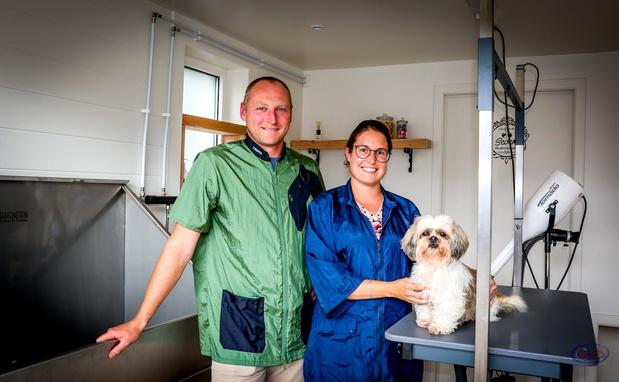 Kylie Pequeur en Nicolas Minne openen een nieuw hondentrimsalon