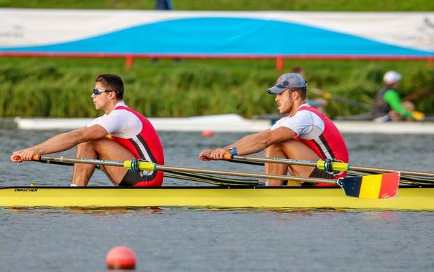 Tibo Vyvey en Pierre De Loof naar halve finale op EK roeien