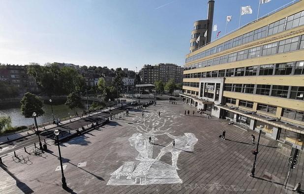En images: l'art à même le trottoir