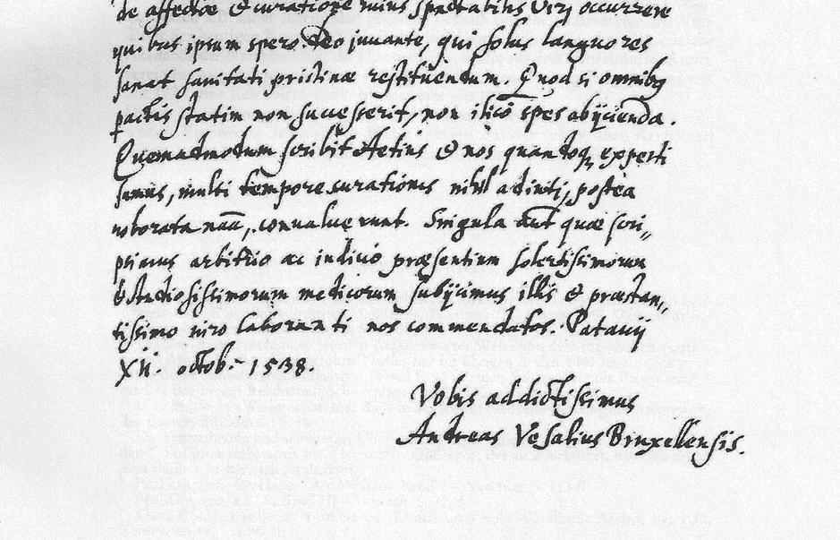 3. De ontdekking van Vesalius' consilium uit 1538