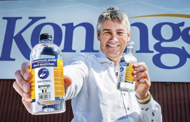 Bottelaar Konings maakt ontsmettingsalcohol tegen coronavirus: 'We werken nu voor het goede doel'