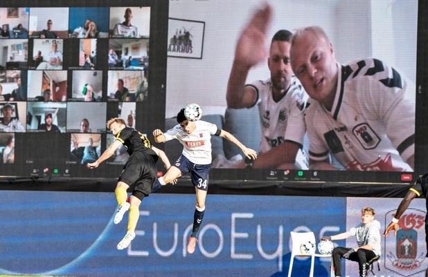 Deense competitie hervat met virtuele fans in de tribunes