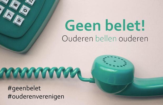 Vlaamse ouderenverenigingen belden al meer dan 100.000 ouderen op