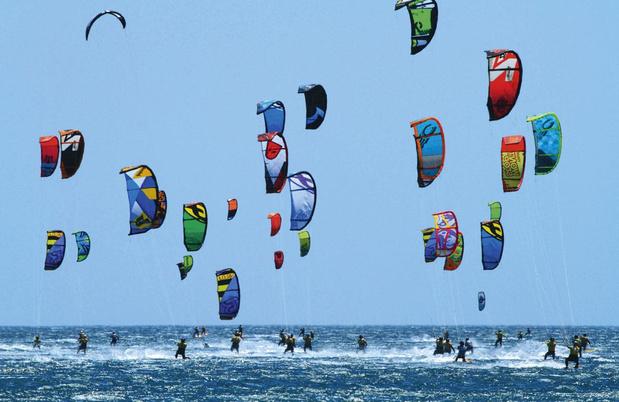 Vliegeren op zee