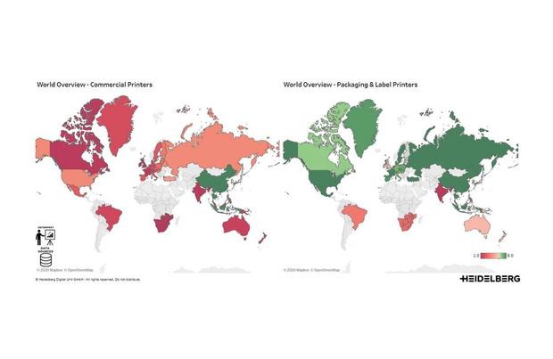 Heidelberg publie chaque semaine des mises à jour sur les volumes d'impression mondiaux
