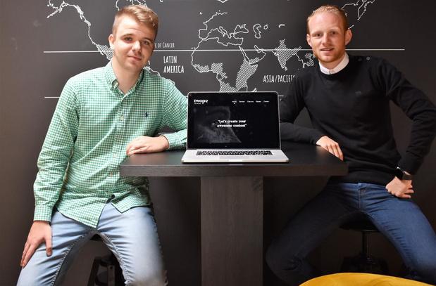 Dentergemnaar Maarten Demeyere en Jordy Vermeire uit Wingene stichten Twope