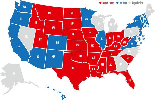 Amerikaanse verkiezingen zijn nagelbijter