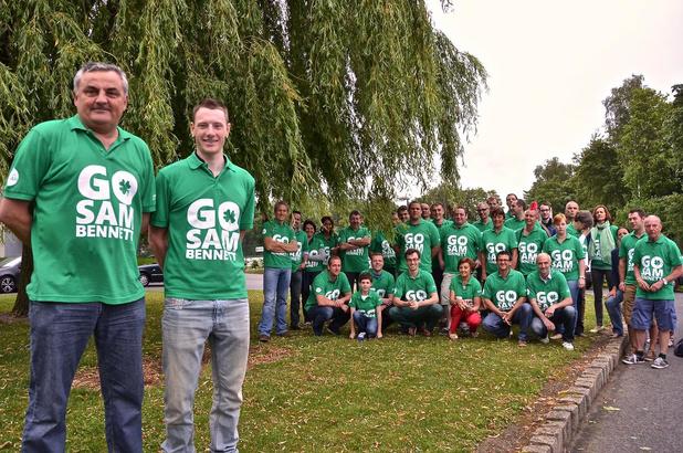 Fanclub viert de groene trui van West-Vlaamse Ier Sam Bennett