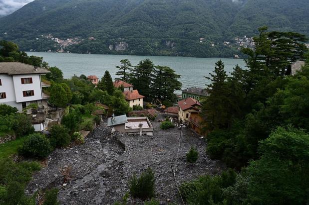 Overstromingen in Noord-Italië na stortregens