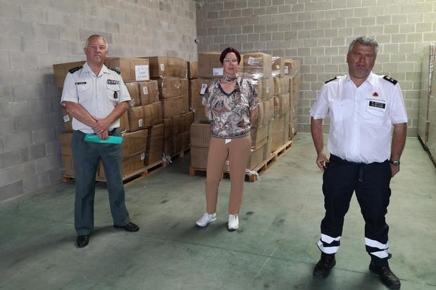Wit-Gele Kruis West-Vlaanderen ontvangt strategische voorraad beschermingsmiddelen