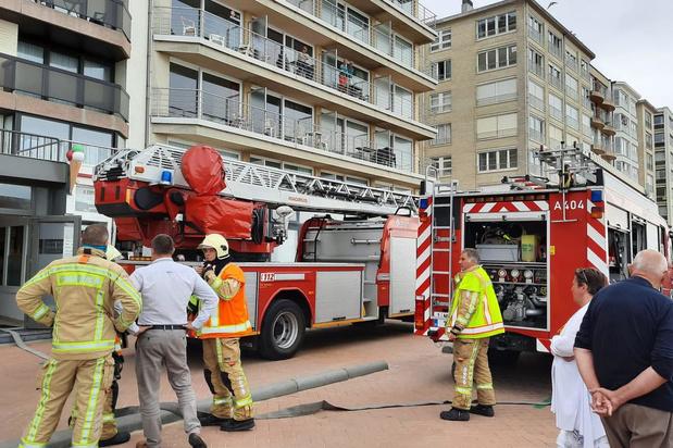 Rookontwikkeling in gebouw in De Panne