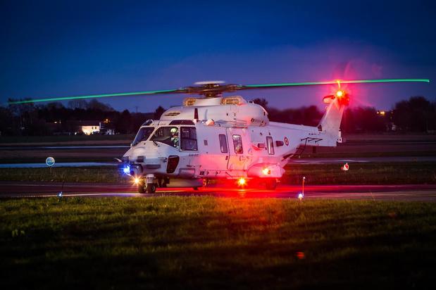 Helikopter uit Koksijde ingezet voor orgaantransport, valt in panne