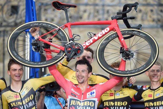 Vuelta: eindwinnaar Primoz Roglic zet met tijdritwinst puntjes op de i