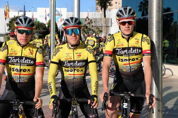 Met Maxime De Poorter, Thomas Joseph en Maxime Vantomme rijden er drie renners uit de Westhoek bij Tarteletto-Isorex