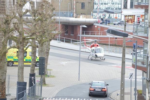 MUG-heli landt in hartje Kortrijk