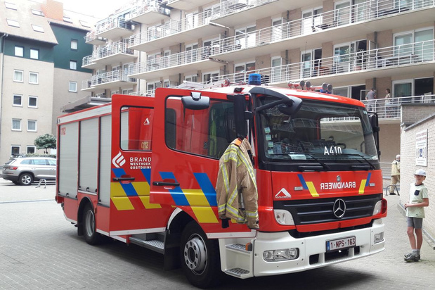 Brandalarm in appartementsblok