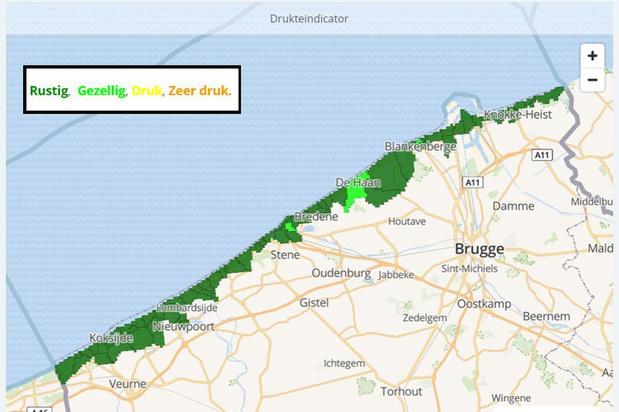 Druktebarometer van de kust werd al 300.000 keer aangeklikt