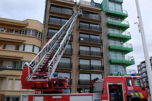 Brand in appartement in Koksijde